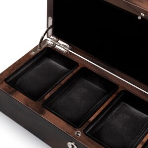 Four Watch Box Rectangular 4 Watch Pads Walnut gift