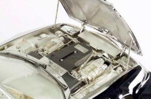 silver replica Aston Martin Vantage